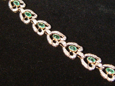 Belle Epoque Emerald & Diamond Bracelet